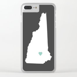 New Hampshire Love in Charcoal Clear iPhone Case