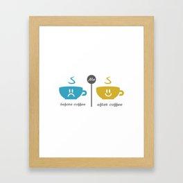 Before and after coffee #society6 #decor #buyart #artprint Framed Art Print
