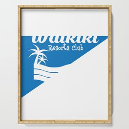 Fresh Hawaiian Style Tshirt Design Waikiki resort Serving Tray