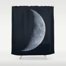 First Quarter Moon Shower Curtain