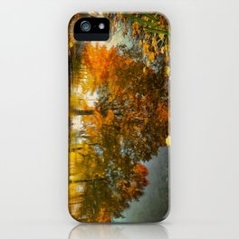 Reflection of the fall iPhone Case