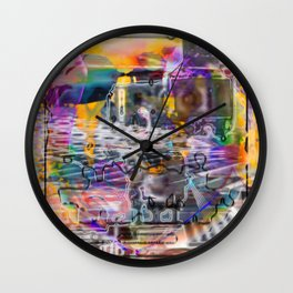 """Lost The Plot In The Last Quarter (or Art Instructors Hate The Term """"Cathartic"""", So...) Wall Clock"""