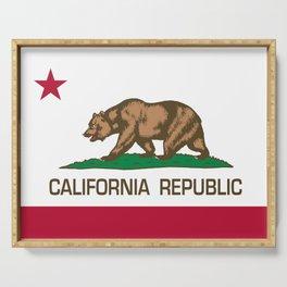 California Republic Flag - Bear Flag Serving Tray
