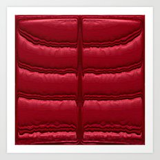 Abstract Red Quilt    Art Print