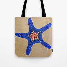 Sea Star Blue Tote Bag