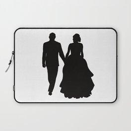 Wedding Couple Silhouette Design For Weddings Laptop Sleeve