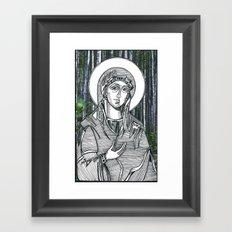 Madonna of the Birches Framed Art Print