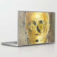 c3po Laptop & iPad Skins featuring C3PO by Johannes Vick