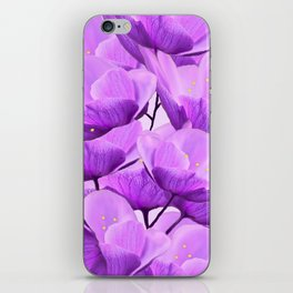Violet Anemones Spring Atmosphere #decor #society6 #buyart iPhone Skin