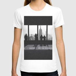 New York City Window Views Black and White T-shirt