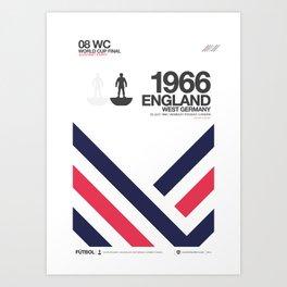 ENGLAND 1966 Art Print