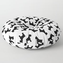 Schnauzer - Simple Dog Silhouette Floor Pillow