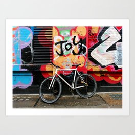 Joy & bike Art Print