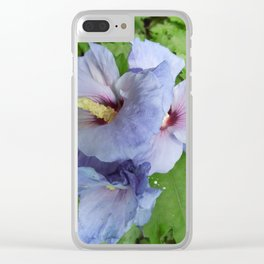Blue Beauty Clear iPhone Case