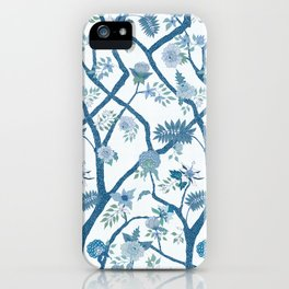 Peony Branch Chinoiserie Mural iPhone Case