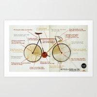 Bike benefit (eng) Art Print