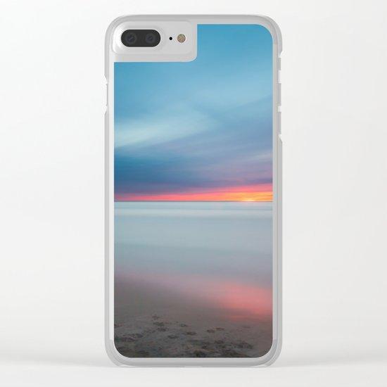 Sunset pastel #ocean Clear iPhone Case