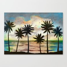 Palm Tress 10a Canvas Print