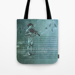 Music and Feelings Tote Bag