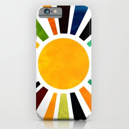 Sun Retro Art iPhone Case