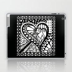 Abstract heart doodle Laptop & iPad Skin