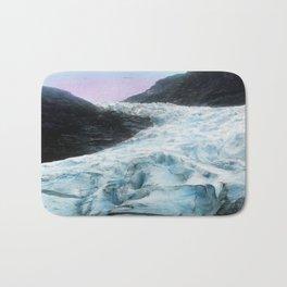 Blue Ice Wave (Vintage Glacier Photo) Bath Mat