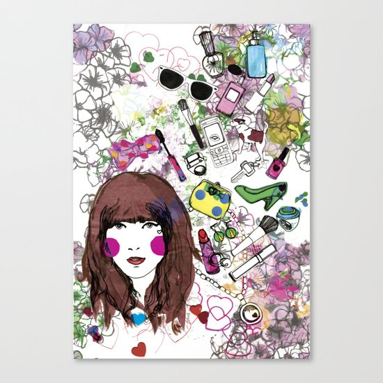 Floral Girl Canvas Print