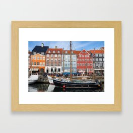 Sunny Nyhavn Framed Art Print