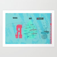 The Second Great Catch (by Clare Nicholas) Art Print
