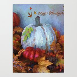 Happy Thanksgiving - Seasonal Art Poster