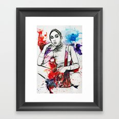 Gray Ana Framed Art Print