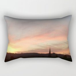 Sunset 503 on Ranmore near Dorking (North Downs) Rectangular Pillow