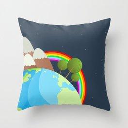 Night On Earth Throw Pillow