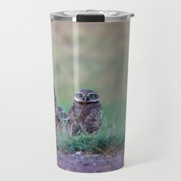 Baby Burrowing Owls Travel Mug