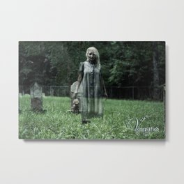 "VAMPLIFIED ""Haunted Cemetery"" Metal Print"