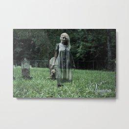 """VAMPLIFIED """"Haunted Cemetery"""" Metal Print"""