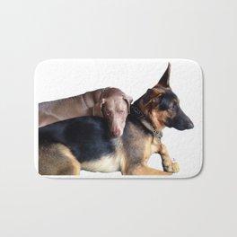 Dos - Dogs German Shepherd and Weimaraner Bath Mat