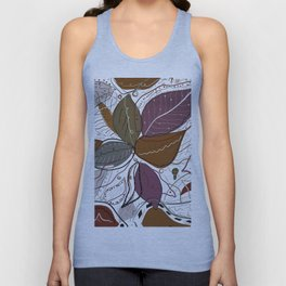 Active Wear Abstract Leaves Pattern Unisex Tank Top