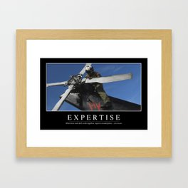 Expertise: Inspirational Quote and Motivational Poster Framed Art Print