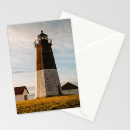 Sunrise at Point Judith Light Stationery Cards