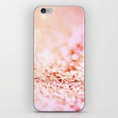 Pink shiny glitter - Sparkle Valentine Backdrop iPhone & iPod Skin