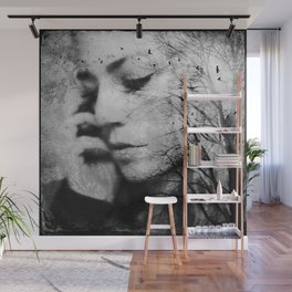 Another World - surreal dreamy portrait, woman nature photo, tree nature portrait Wall Mural