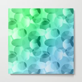 Green and Blue Layered Gradient Ovals! Metal Print