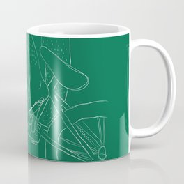 Bicycle Feet (Green) Coffee Mug