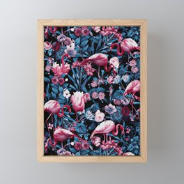 Floral and Flamingo VIII Framed Mini Art Print