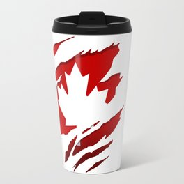 Canadian Red Flag Pride Travel Mug