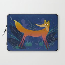 Fox in the Night Forest Laptop Sleeve