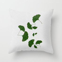Ginkgo Leaf I Throw Pillow