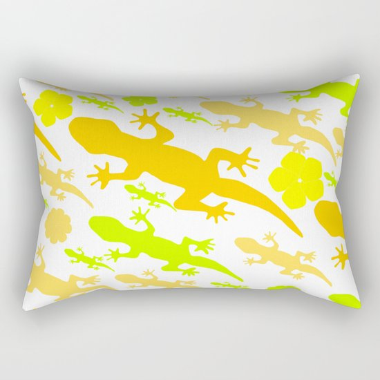 Lizards in yellow and green Rectangular Pillow
