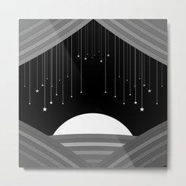 Curtain Fall Metal Print